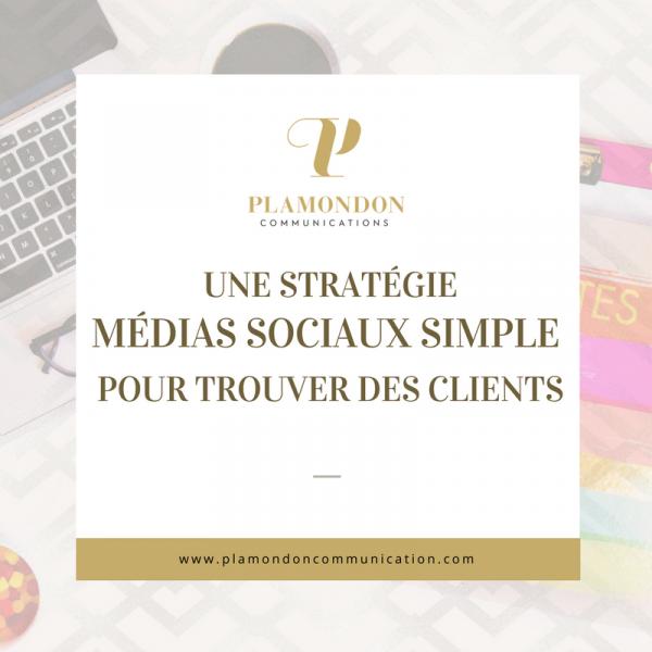 Une stratégie médias sociaux simple pour trouver des clients